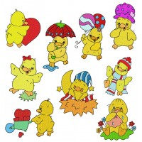 Image Embroidery Designs Little Chick