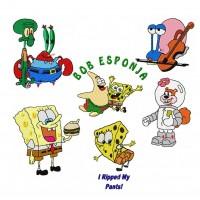 Image SpongeBob Embroidery Designs
