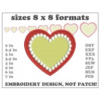 Image Heart Cake Embroidery Design