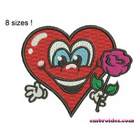 Heart Greetings Embroidery Design