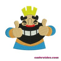 Image Embroidery Design King Clash Royale