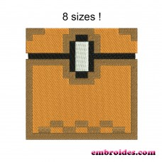 Image Chest Minecraft Embroidery Design