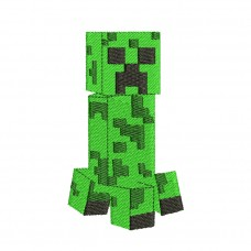 Minecraft Creeper Embroidery Design Image