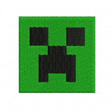Image Minecraft Creeper Face Embroidery Design