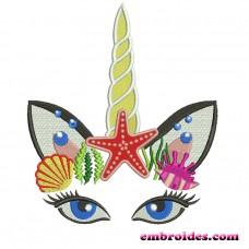 Image Unicorn Sea Embroidery Design