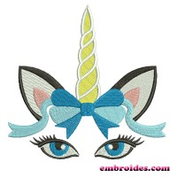 Image Unicorn with Flowers Embroidery Design