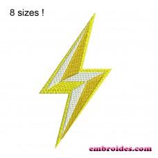 Image Lightning Bolt Gold Embroidery Design