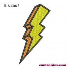 Image Lightning Bolt 3D Embroidery Design