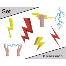 Image Lightning Set Embroidery Designs