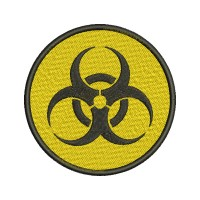 Biohazard Sign Embroidery Design Image