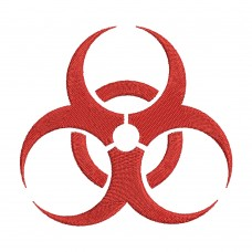 Embroidery Design Biohazard Image