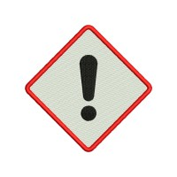 Image Embroidery Design Danger Sign