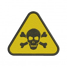 Image Lethal Danger Sign Embroidery Design