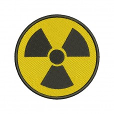 Image Radioactivity Sign Embroidery Design