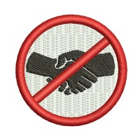 Image Don't shake hands Embroidery Design