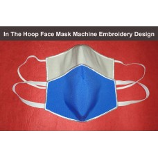 Image Face Mask Embroidery Design