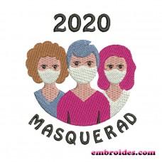 Image Masquerade 2020 Embroidery Design