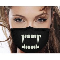 Photo Embroidery Design Fangs On Mask