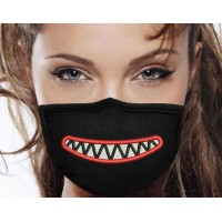 Photo Mouth Teeth On Mask Embroidery Design