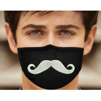 Photo Mustache On Mask Embroidery