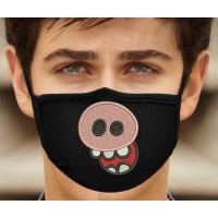 Photo Pig Face Embroidery On Protective Mask