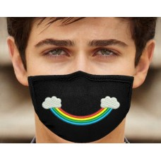 Photo Rainbow Smile Embroidery On the Mask