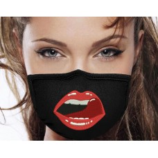 Photo Sexy Lips Tongue Embroidery On the Mask