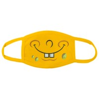 Photo Sponge Bob Smile Embroidery On the Mask