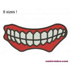 Image Jaw Teeth Embroidery Design