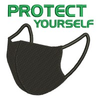 Image Mask PROTECT YOURSELF Embroidery Design