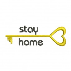 Image Stay Home Key Embroidery Design