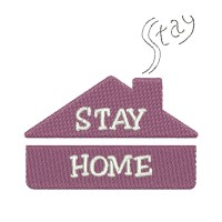 Image Embroidery Design Stay home smoke from the chimney