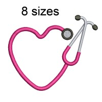 Image Stethoscope Embroidery Design