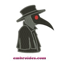 Image Plague Doctor Embroidery Design