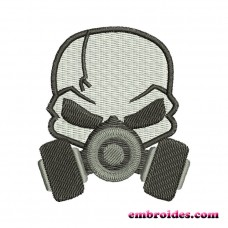 Image Skull Gas Mask Embroidery Design