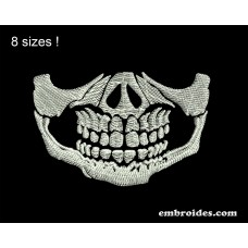 Image Skull Face Mask Embroidery Design