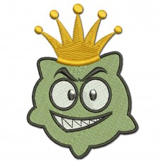 Image Crown virus Embroidery Design