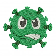 Image Virus Cartoon Embroidery Design