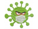 Virus in mask embroidery