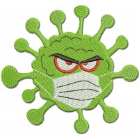 Image Virus in Mask Embroidery Design